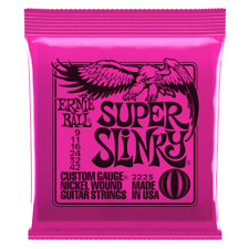 Ernie Ball 2223 Super Slinky Electric Guitar Strings 9 - 42 Down in