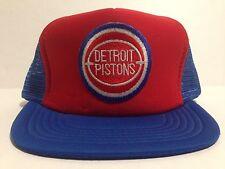 Vtg DETROIT PISTONS Adjustable Snapback Mesh FOAM Front Trucker Hat Cap NBA NOS
