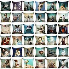 Pillow Case Cotton Linen Sofa Cushion Cover Throw Pillow Cover Christian Schloe