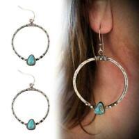 Mode Kreis Perle Hoop Anweisung geometrische baumeln Ohrringe Schmu Nett Fr D9T6