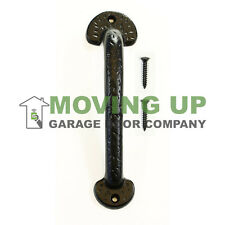 "Garage Door Decorative Colonial Pull Handle 9"" Cast Iron + Hardware"