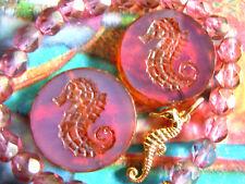 Nouvelle table Cut cheval de mer-Perles en Rose Opal M. Picasso-Finish - 23mm- 2stk. -