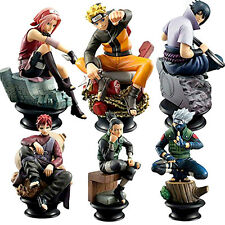 6pc Anime Naruto Uzumaki/Kakashi/Sasuke/Gaara/Sakura/ Shikamaru Chess Figure