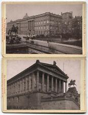 CABINET CARD BERLIN ARCHITECTURE SCENES. TWO SET.