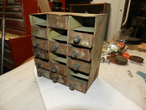 Vintage Unique Folk Art -  Metal Cabinet - 1900-1930s Home Crafted