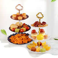 3-Tier Cake Stand Dessert Candy Holder Fruit Cake Plate Party Home Display Decor