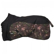 "Tough-1 600D Waterproof Poly Turnout Blanket - Camo/Black - 78""- Nwt -"