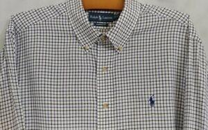 RALPH LAUREN Men's Long Sleeve Classic Fit Button Down Dress Shirt Size XL NWOT