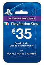 PlayStation - Cards Hang - 35 EURO - PS4 PS3 PSVITA - Ricarica Portafoglio