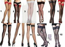 Sexy Stockings 9 styles, Hold Ups 3 styles Sheer Fishnet Lace Bow Seamed Nylons