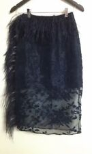 Asilio Feather and Sheer Lace Black Skirt Size 8 BNWTS