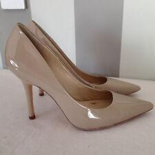 charles david shoes  sz 9 patent  LEATHER  heel  p