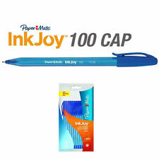 Papermate Paper Mate Inkjoy 100 Capped Ballpoint Pen Medium Blue x 10