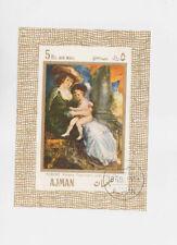 ajman 1968 rubens painting s/s used           q613