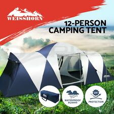 Weisshorn Family Camping Tent 12 Person Hiking Beach Tents Canvas  (3 Rooms)