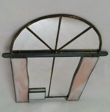 ❀ڿڰۣ❀  Handmade ARCHED BIRD CAGE STAINED GLASS Vanity WALL MIRROR  ❀ڿڰۣ❀ SALE