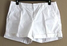 NWT LIZ CLAIBORNE MSRP $38.00 NEW CLASSIC CHINO SHORT SZ 14 WHITE SHORT WOMEN'S