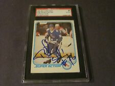 PETER STASTNY AUTOGRAPHED 1981-82 OPC SUPER ACTION RC CARD-SGC SLAB-ENCAPSULATED