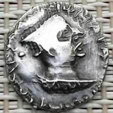 119-124 Ad Indo-Skythians,Nahapana, Ancient Silver Drachm Coin,India.#�3�.