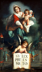 The Madonna of Justice Oil painting Hd Giclee Art Printed on canvas L3072