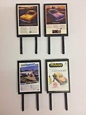 4 Model Railway Billboards / Posters - Trackside Signs - OO Gauge - Pack 194