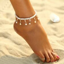 Adjustable Foot Chain Chain Boho Fashion Pearl Ankle Bracelet Women's Anklet