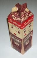 Vintage Sealtest Chocolate Milk Carton - 1960's kids food