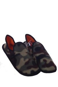 Mens House Shoes Slippers Army Camo Camoflage Hard Bottom 8 9 10 11 12 13 NEW