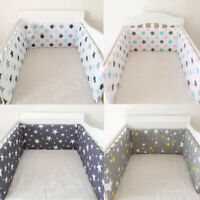 """78"""" x 12"""" Baby Crib Bumper Pad Breathable Comfy Toddler Bed Cot Protector Cotton"""