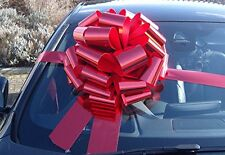 "MEGA BIG CAR BOW (16"") for Cars, Large Birthday & XMAS Gifts - METALLIC RED"
