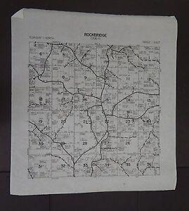Wisconsin Richland County Map Rockbridge Township c.2010 Master