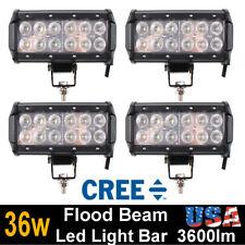 4x 7inch 36W CREE LED WORK LIGHT BAR FLOOD OFFROAD 4X4 4WD ATV Truck UTE 18W 72W