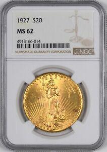 1927 Saint Gaudens Gold Double Eagle $20 - NGC MS62 -