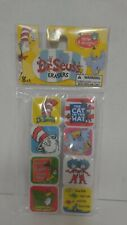 Dr Seuss Erasers 8 ct Assorted Designs (featuring Books & Characters) New 2017