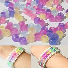 20X Beads Pony Sunlight Color Changing Kids Crafts Magic Bracelet UV Reactive