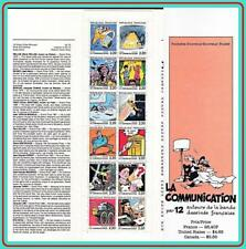 FRANCE 1988 COMMUNICATIONS CARTOONS booklet MNH SPACE, AM.INDIANS