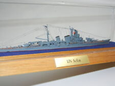 Metal Ship Model Ijn Aoba Highly Detailed Japanese Heavy Cruiser in Case