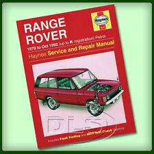 RANGE ROVER CLASSIC Petrol - Haynes Workshop Manual 1970 to 1992 (DA3048)