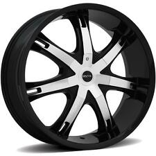 ONYX 907 28 x 9.5 BLACK RIMS WHEELS CHEVROLET IMPALA 5H +15