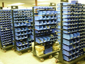 COMPLETE FASTENERS SCREW INVENTORY CARTS FOR CNC MILLING MACHINE SHOP TOOL & DIE