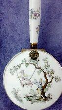 Porcelain silent butler pot/pan #7050 hinged lid Andrea by Sadek Japan