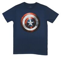 Captain America Winter Soldier Movie Shield Marvel Licensed Adult T-Shirt