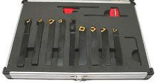 Jeu de 9 outils de tournage avec corps section 10 x 10mm