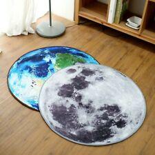 Round World Map Moon Round Carpet Mat Floor Soft Seat Pad Printed Rug Non Slip