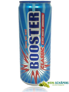 24 Dosen Booster Energy Drink, Original á 330 ml, incl. 6,-€ Pfand
