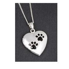 Equilibrium Silver Paw Print Necklace Jewellery Locket Pendant Keepsake Gift