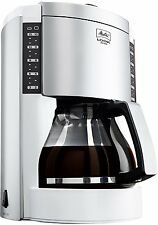 Melitta Look Deluxe Filter Coffee Machine 15 Cup Illuminated Silver and White
