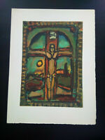 George Rouault gravure bois gravé parfait état Crucifixion