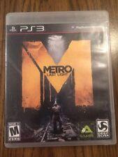 Metro: Last Light (Sony PlayStation 3, 2013)**CIB**