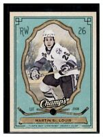 2009-10 Upper Deck Champ's Green #88 Martin St Louis Tampa Bay Lightning Card